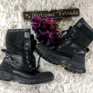 Ugg Adirondack Black Leather Boots size 7.5